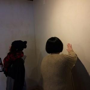 ルルックさんとホシノさん、壁を吟味。